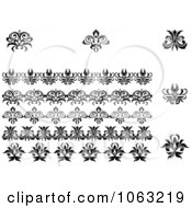 Clipart Flourishes Digital Collage 10 Royalty Free Vector Illustration