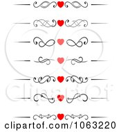 Clipart Heart Flourish Borders Digital Collage Royalty Free Vector Illustration by Vector Tradition SM
