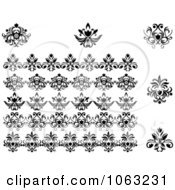 Clipart Flourishes Digital Collage 7 Royalty Free Vector Illustration