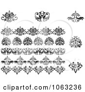 Clipart Flourishes Digital Collage 22 Royalty Free Vector Illustration