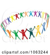 Clipart Colorful People Unified Royalty Free Vector Illustration