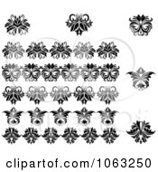 Clipart Flourishes Digital Collage 17 Royalty Free Vector Illustration