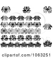 Clipart Flourishes Digital Collage 18 Royalty Free Vector Illustration