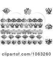 Clipart Flourishes Digital Collage 11 Royalty Free Vector Illustration