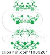 Clipart Green Flourish Borders Digital Collage 16 Royalty Free Vector Illustration