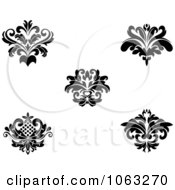 Clipart Black And White Flourishes Digital Collage 10 Royalty Free Vector Illustration