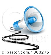 Clipart 3d Wired Megaphone Royalty Free Vector Illustration by Oligo