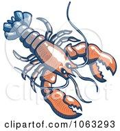 Clipart Lobster Royalty Free Vector Illustration