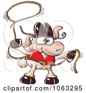 Clipart Roper Sheep Royalty Free Vector Illustration