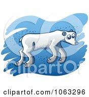 Clipart Polar Bear Swimming Royalty Free Vector Illustration