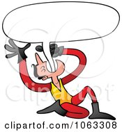 Clipart Man Swallowing A Word Balloon Royalty Free Vector Illustration by Zooco