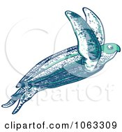 Clipart Leatherback Sea Turtle Royalty Free Vector Illustration by Zooco