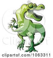 Clipart T Rex Dancing Royalty Free Vector Illustration