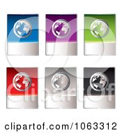 Clipart Global Internet Shopping Buttons Digital Collage Royalty Free Vector Illustration by michaeltravers