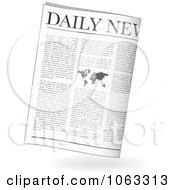 Clipart Folded Daily Newspaper Royalty Free Vector Illustration by michaeltravers