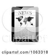 Clipart The News On A Tablet Royalty Free Vector Illustration by michaeltravers