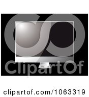 Clipart Shiny 3d Television Screen Royalty Free Vector Illustration by michaeltravers