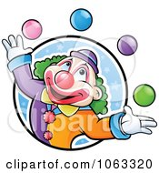 Clipart Juggling Clown Logo Royalty Free Vector Illustration