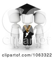 Clipart 3d Ivory College Graduate And Parents Royalty Free CGI Illustration by BNP Design Studio
