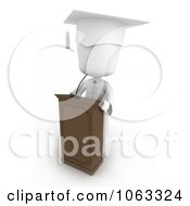 Clipart 3d Ivory Child Graduate With A Medal Royalty Free CGI Illustration