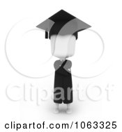 Clipart 3d Ivory College Graduate Royalty Free CGI Illustration