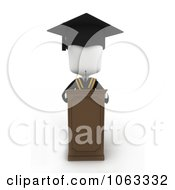 Clipart 3d Ivory Valedictorian College Graduate Speaking Royalty Free CGI Illustration