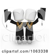 Clipart 3d Ivory College Graduates Royalty Free CGI Illustration