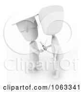 Clipart 3d Ivory Child Graduate Receiving A Certificate Royalty Free CGI Illustration