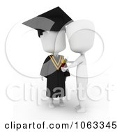 Clipart 3d Ivory College Graduate Receiving A Medal Royalty Free CGI Illustration
