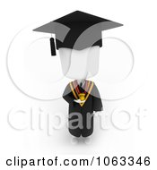 Clipart 3d Ivory College Graduate Wearing A Medal Royalty Free CGI Illustration