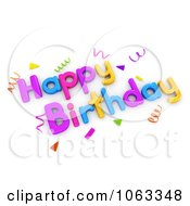 Clipart 3d Happy Birthday Greeting 2 Royalty Free CGI Illustration by BNP Design Studio