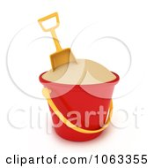 Clipart 3d Beach Bucket Of Sand Royalty Free CGI Illustration