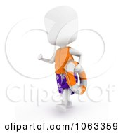 Clipart 3d Ivory Man Lifeguard With A Buoy Royalty Free CGI Illustration