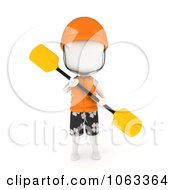 Clipart 3d Ivory Man Kayaker Royalty Free CGI Illustration by BNP Design Studio