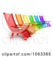 Clipart 3d Colorful Lounge Chairs Royalty Free CGI Illustration