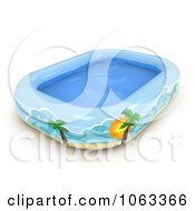 Clipart 3d Inflatable Kiddie Pool Royalty Free CGI Illustration