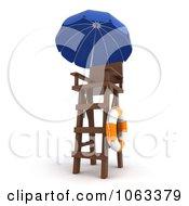 Clipart 3d Lifeguard Tower Royalty Free CGI Illustration by BNP Design Studio