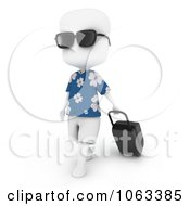 Clipart 3d Ivory Man Traveling Royalty Free CGI Illustration