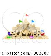 Clipart 3d Summer Sand Castle Royalty Free CGI Illustration by BNP Design Studio