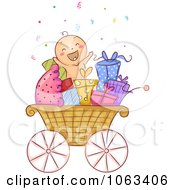 Baby In A Carriage With Gifts