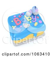 Clipart 3d Boy Baby Shower Cake Royalty Free CGI Illustration by BNP Design Studio