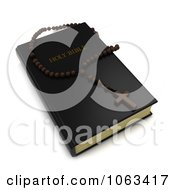 Clipart 3d Holy Bible And Rosary Royalty Free CGI Illustration