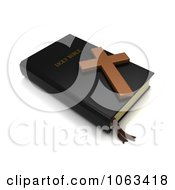 Clipart 3d Holy Bible And Cross Royalty Free CGI Illustration by BNP Design Studio