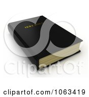 Clipart 3d Holy Bible Royalty Free CGI Illustration