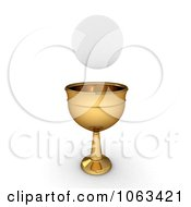 Clipart 3d Sacramental Bread And Chalice Royalty Free CGI Illustration