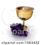 Clipart 3d Grapes And Chalice Royalty Free CGI Illustration