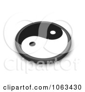 Clipart 3d Taoism Yin Yang Royalty Free CGI Illustration