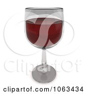 Clipart 3d Red Wine In A Glass Royalty Free CGI Illustration