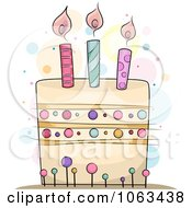 Clipart Polka Dot Birthday Cake Royalty Free Vector Illustration