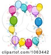 Clipart Birthday Balloon Frame Royalty Free Vector Illustration